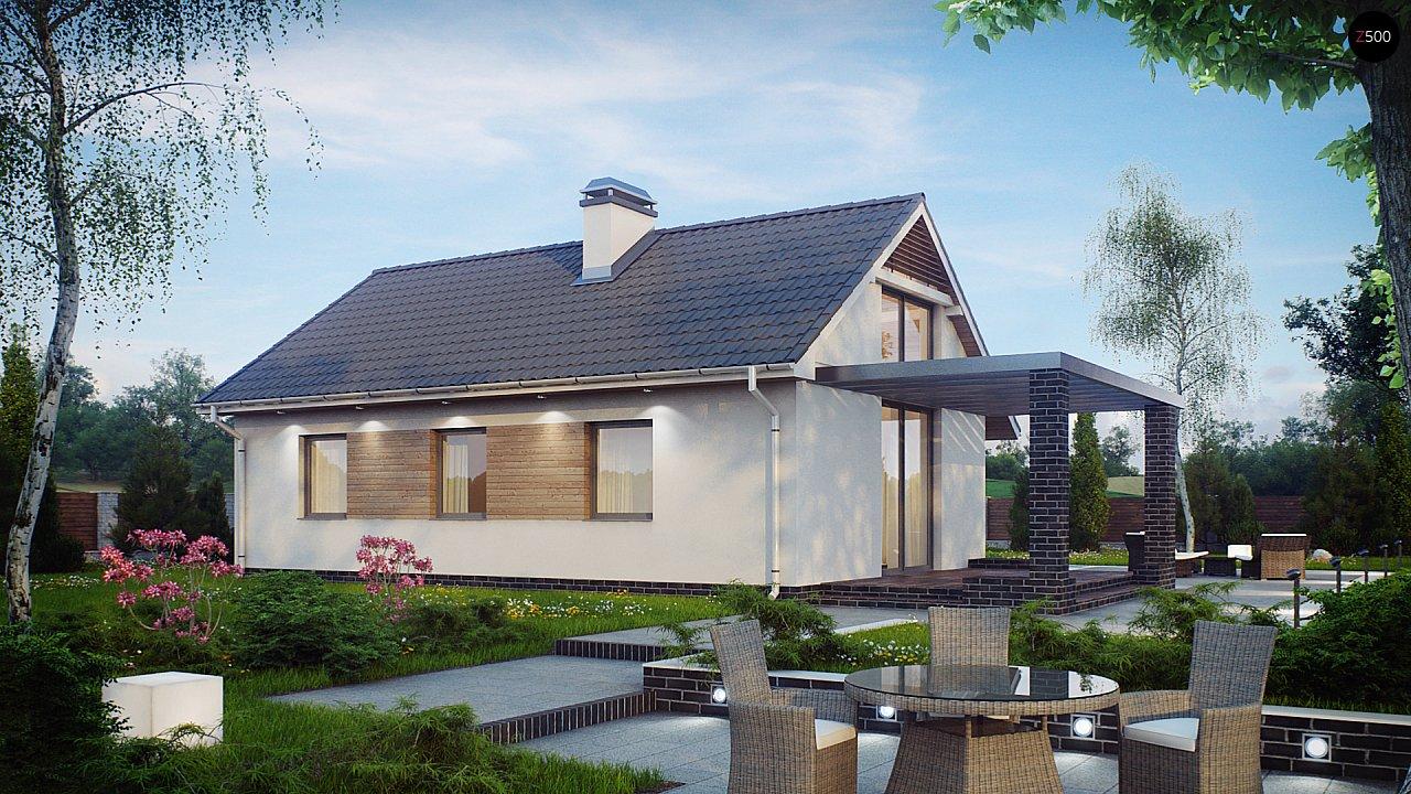 Маленький и функциональный одноэтажный дом, выгодный в строительстве и эксплуатации. - фото 1