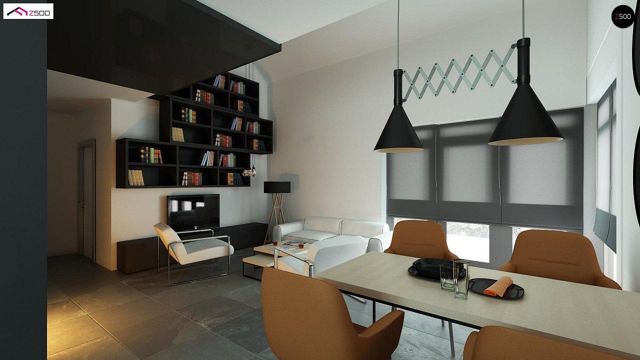 Дом со встроенным гаражом, красивым мансардным окном и вторым светом над гостиной. - фото 4