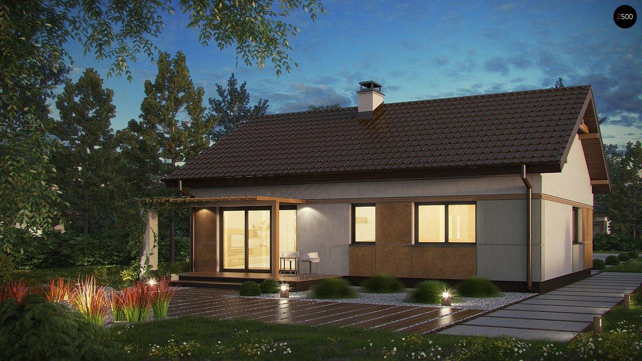 Компактный, уютный одноэтажный дом с двускатной крышей. 4