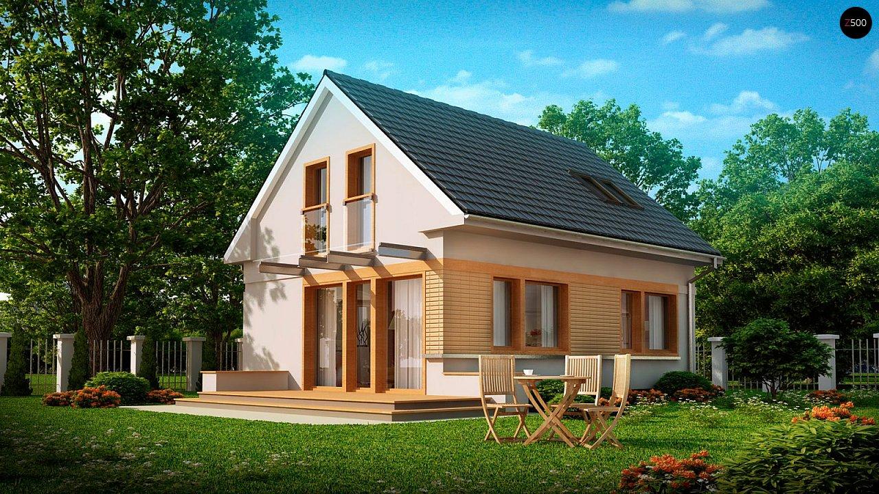 Дом с мансардным этажом, адаптированный для сейсмоопасных регионов. 1