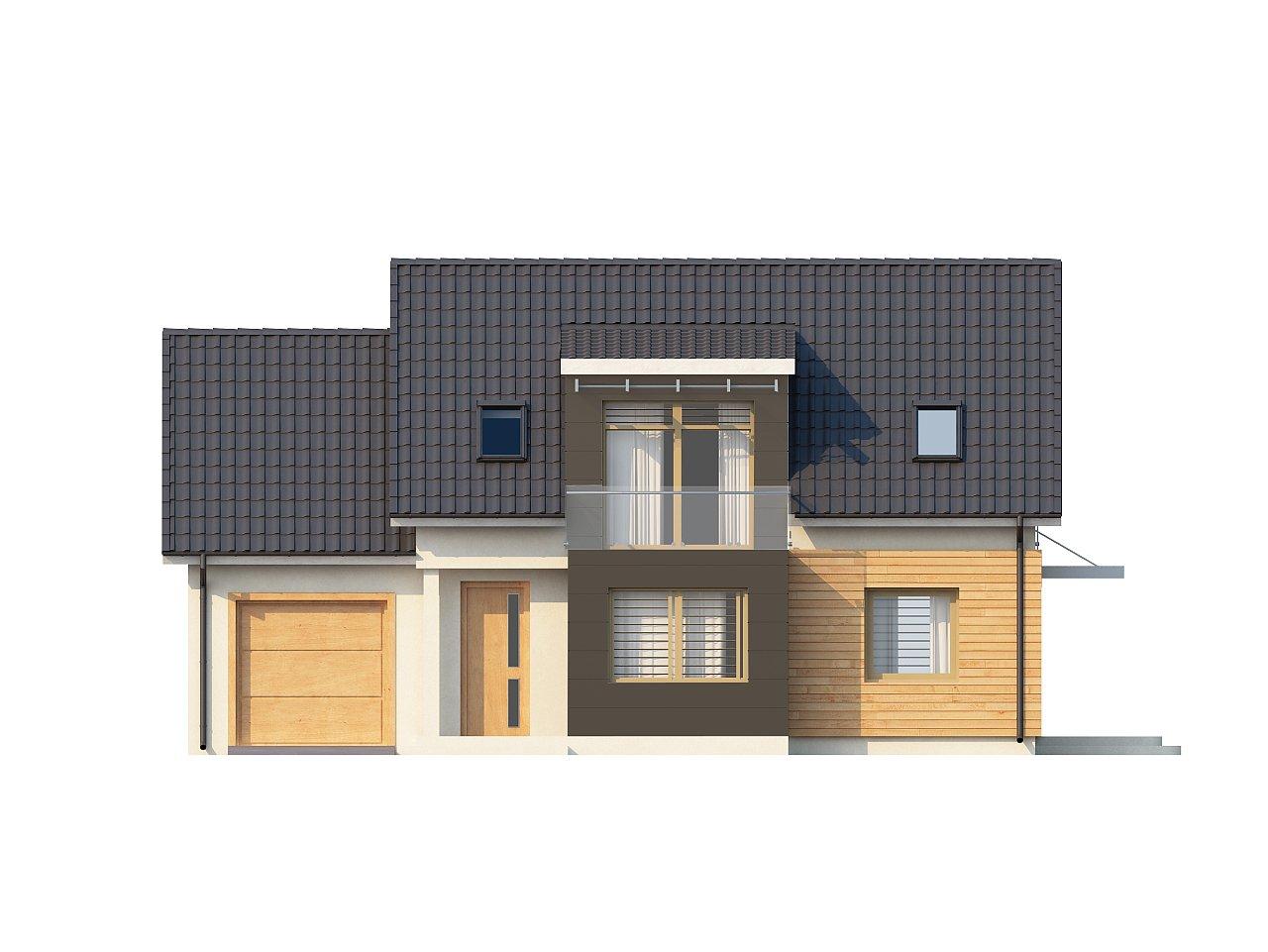 Проект дома с гаражом, с возможностью его использования в качестве двухсемейного. 3
