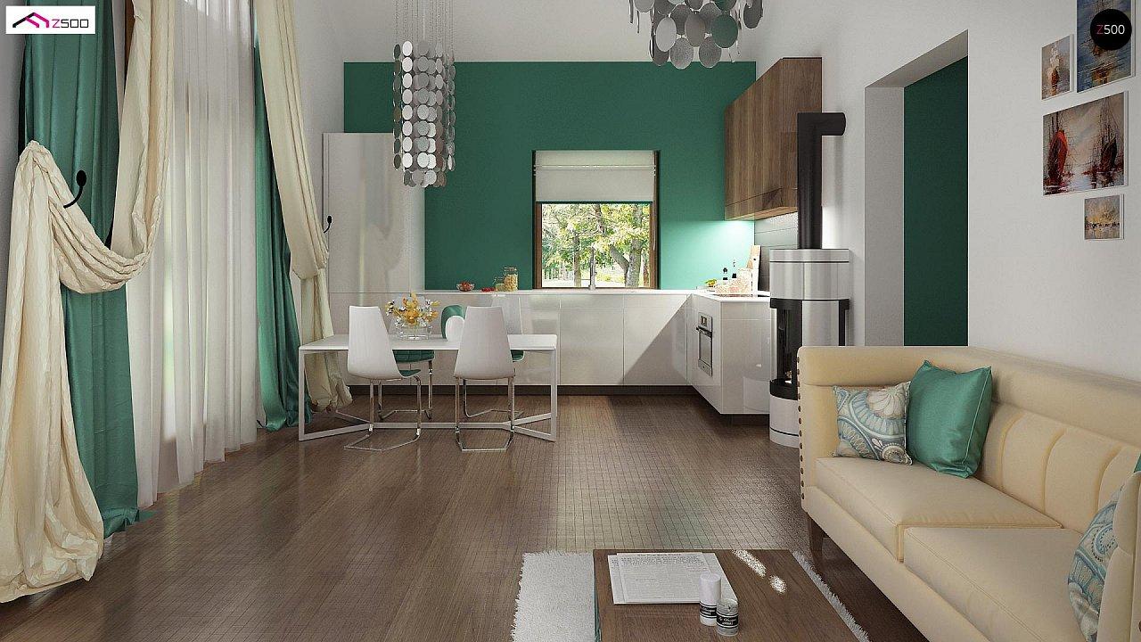 Маленький и функциональный одноэтажный дом, выгодный в строительстве и эксплуатации. - фото 4