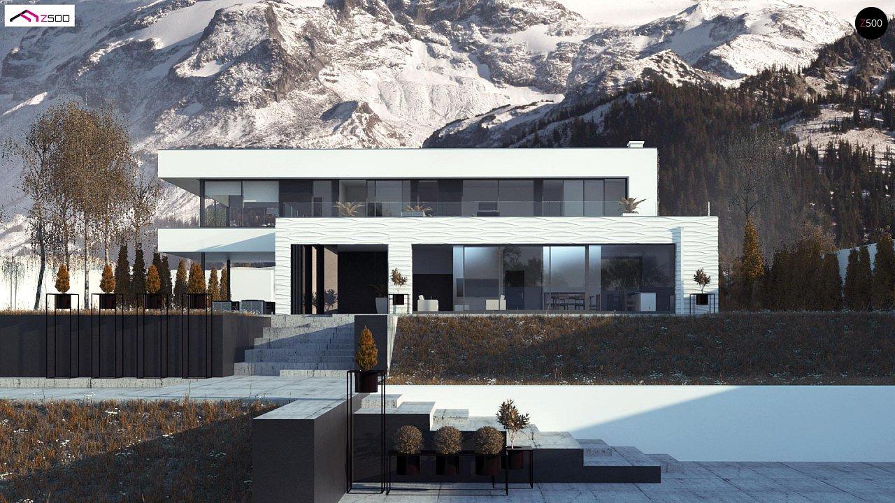 Просторный современный двухэтажный дом 2