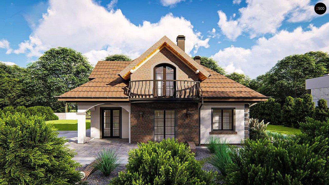 Классический мансардный дом с балконами. 3