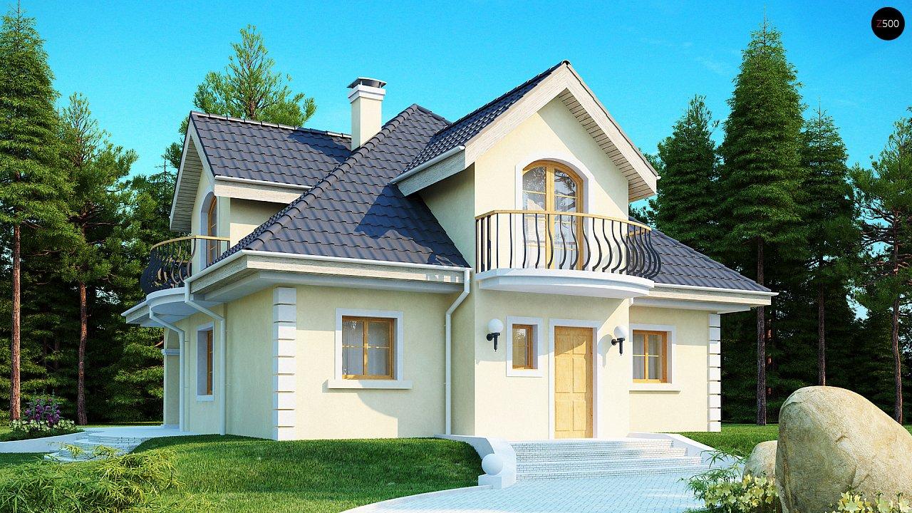 Проект изысканного классического дома с мансардой. 1