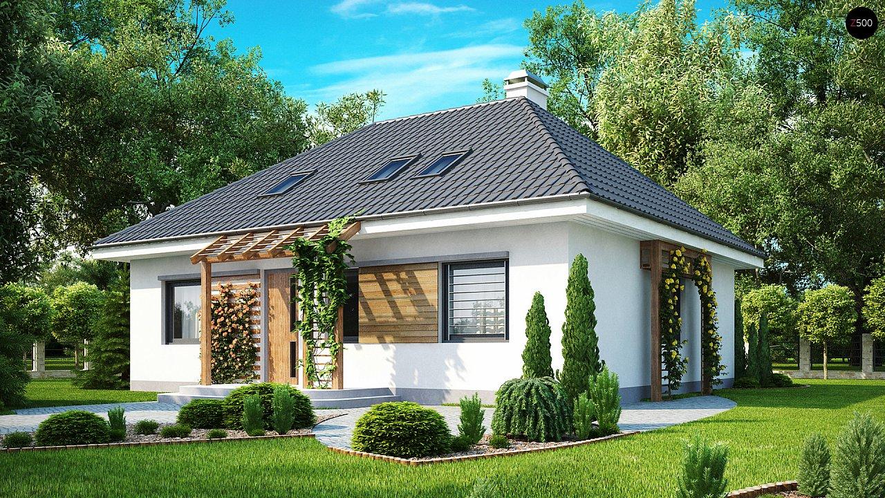 Удобный и красивый дом традиционного характера с двумя дополнительными спальнями на первом этаже. 1