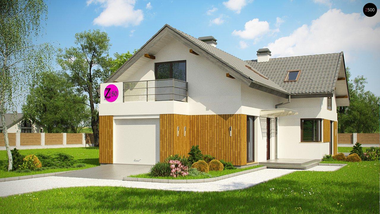 Версия проекта Z150 с гаражом вместо дополнительного помещения. 1