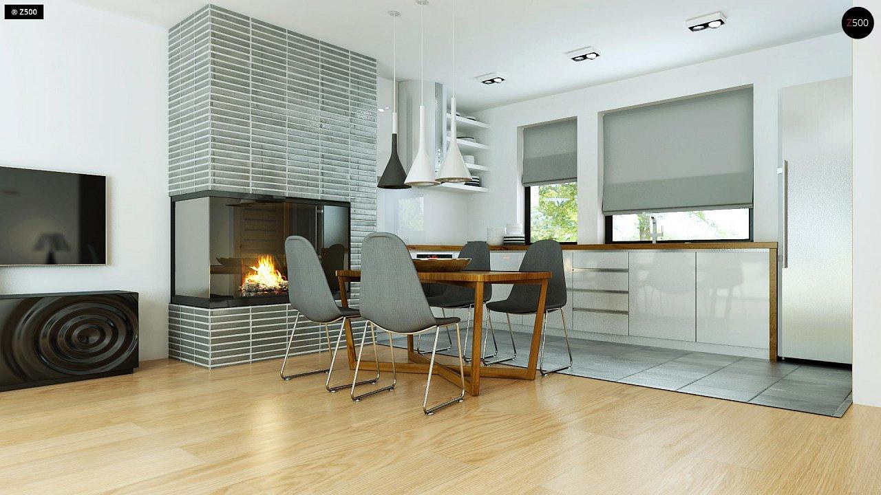 Современный комфортабельный одноэтажный дом с функциональным интерьером и уютной террасой. 7