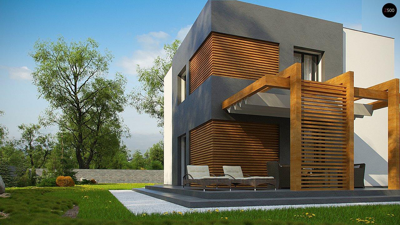 Двухэтажный коттедж современного лаконичного дизайна 9