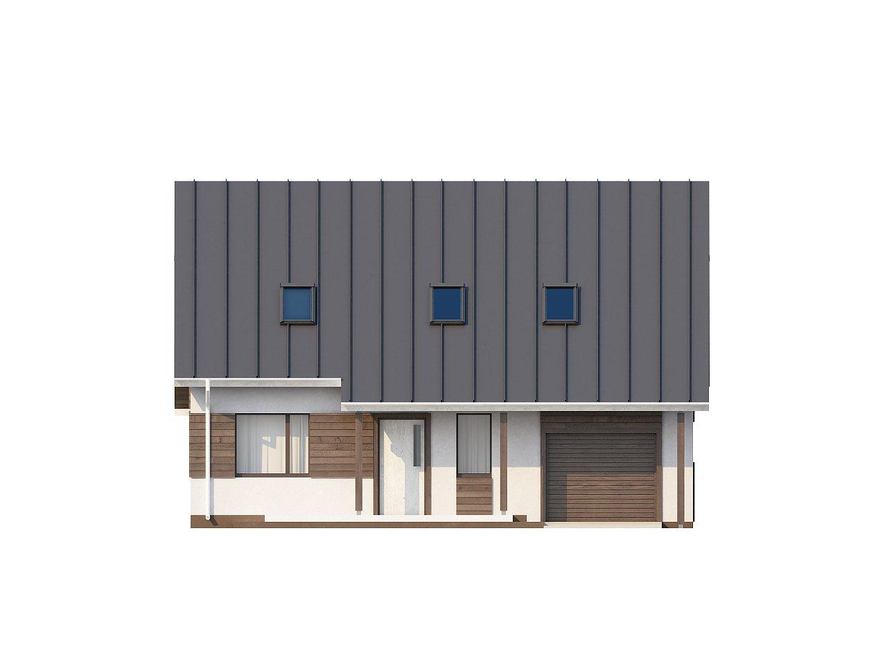 Практичный аккуратный дом с мансардой, со встроенным гаражом для одной машины. - фото 25