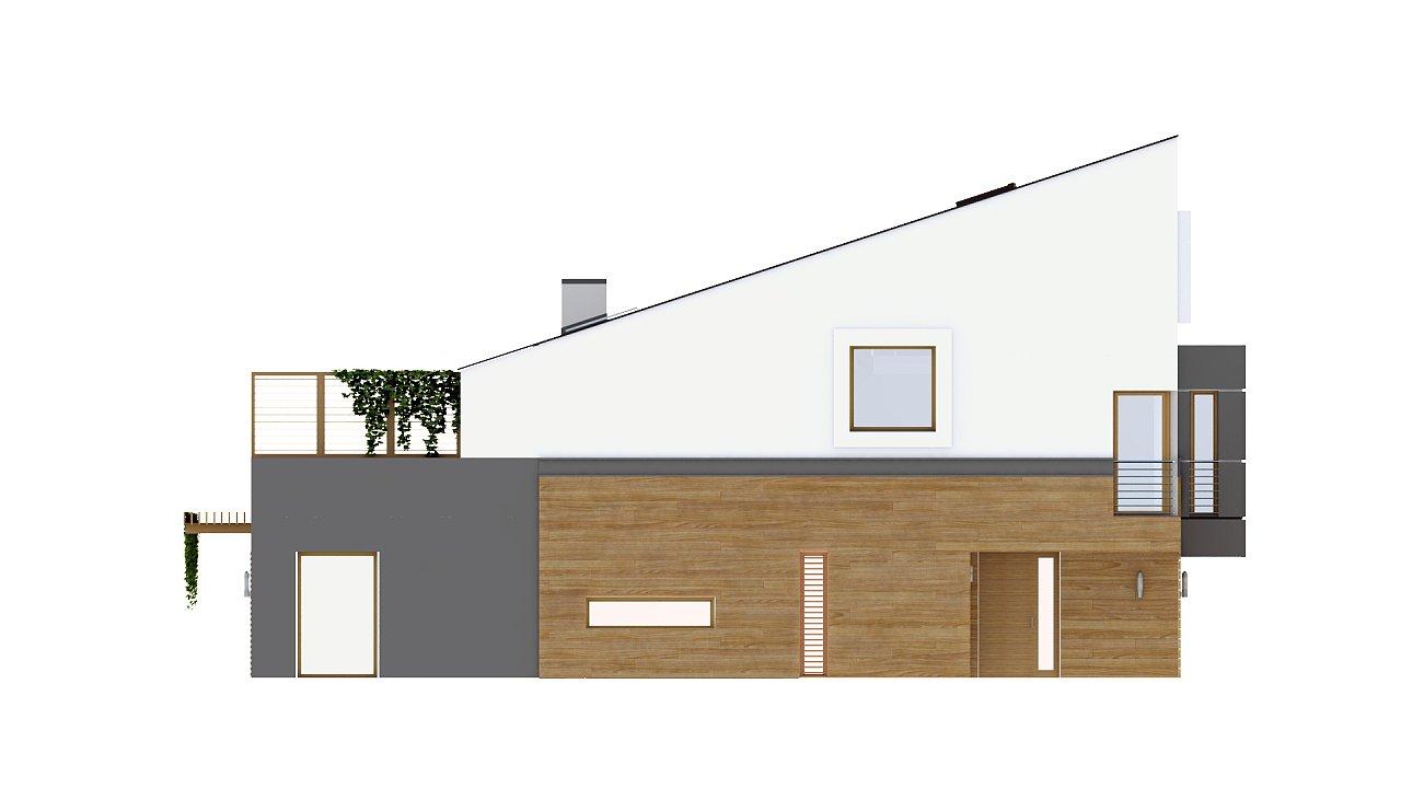 Дома для симметричной застройки с гаражом оригинального современного дизайна. 5
