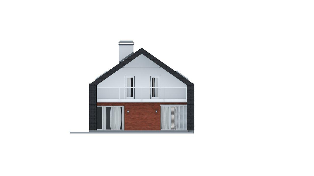 Практичный и уютный дом с модернистскими элементами в архитектуре. 13