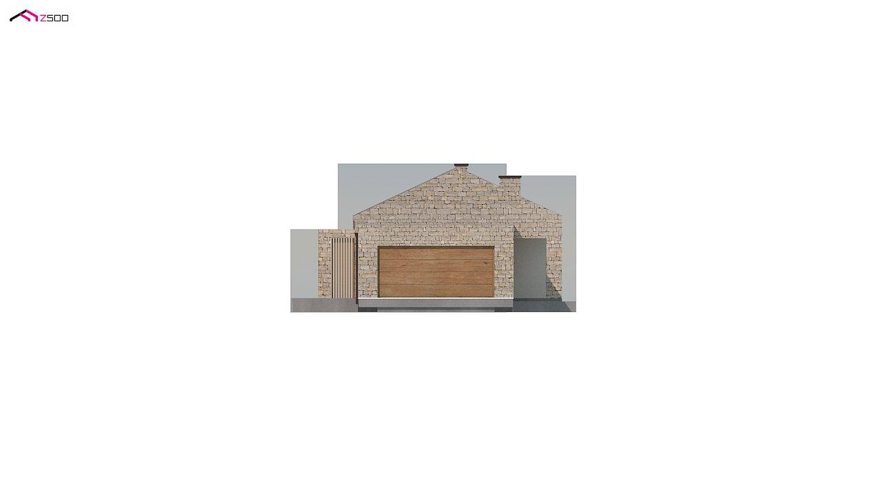 Проект для узкого участка без гаража с тремя спальнями 4