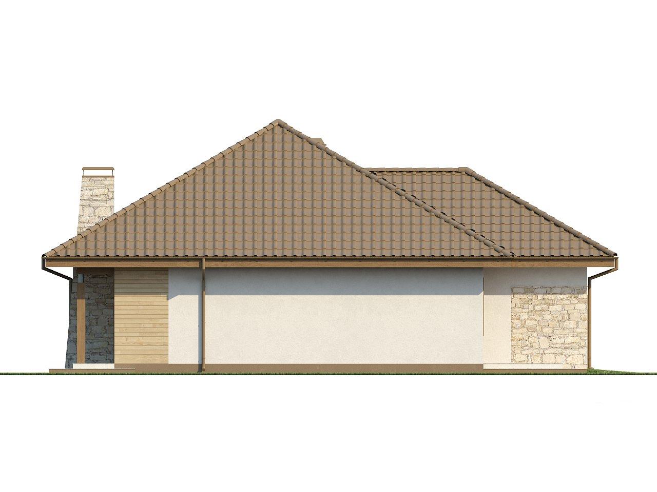 Практичный одноэтажный дом с большим гаражом, просторной гостиной и двумя спальнями. 16