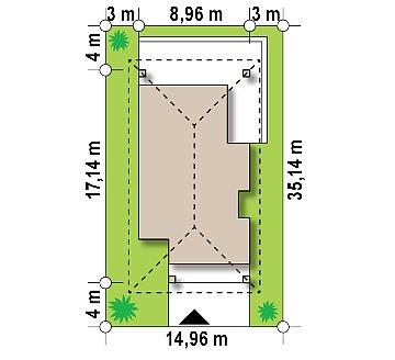 Одноэтажный дом в традиционном стиле с просторной гостиной план помещений 1