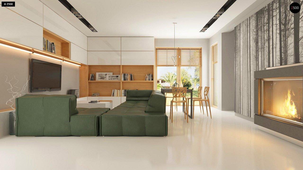 Прекрасное сочетание строгих минималистичных форм и уютного практичного интерьера. 6