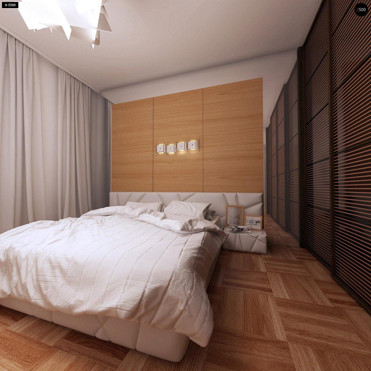 Компактный одноэтажный дом простой формы с возможностью обустройства чердачного помещения. 12