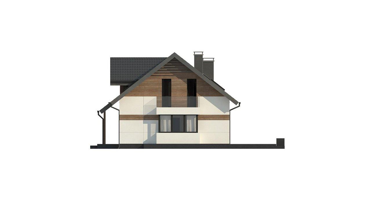 Красивый дом в традиционном стиле архитектуры, с комнатой на пером этаже и гаражом. - фото 10