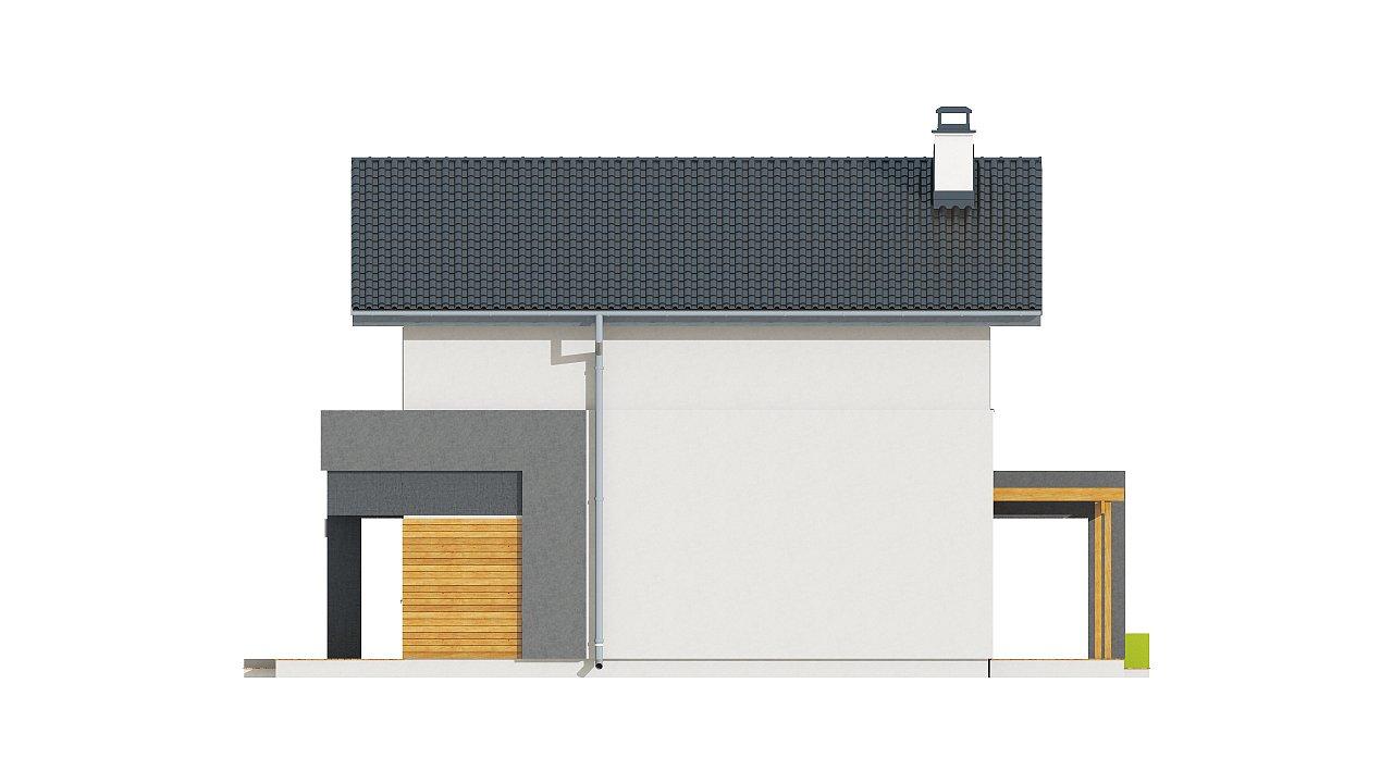 Небольшой двухэтажный дом с современными архитектурными элементами, подходящий для узкого участка. - фото 26