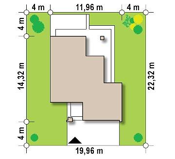 Уменьшенная версия проекта z156 с гаражем и стильным фасадом план помещений 1
