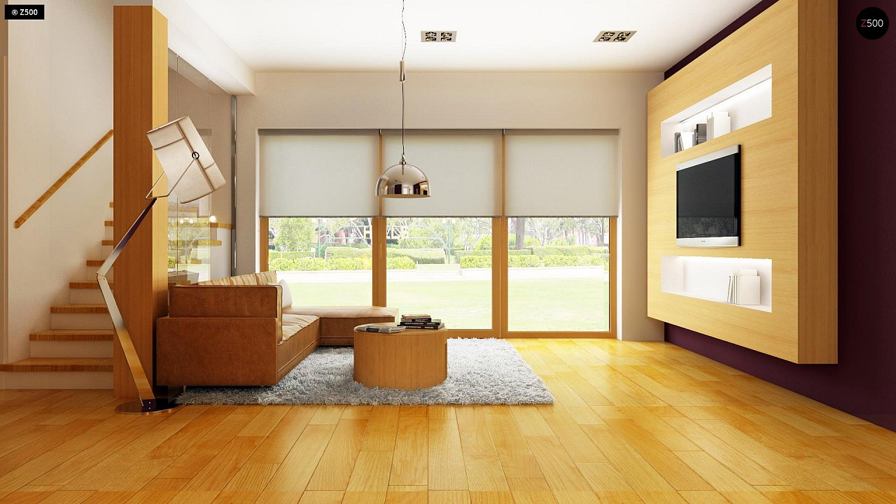 Практичный дом для небольшого участка, простой в строительстве, дешевый в эксплуатации. 5