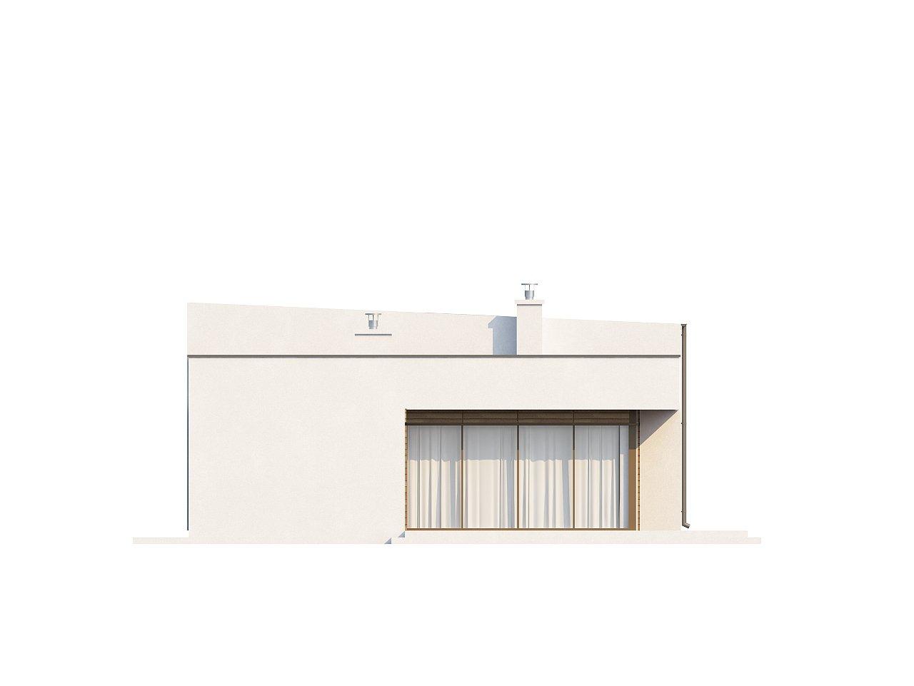 Современный функциональный дом с большой площадью остекления в гостиной. 28