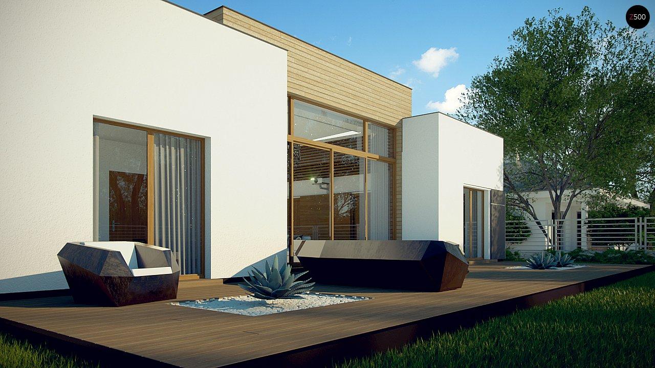 Одноэтажный дом в стиле современного минимализма 4