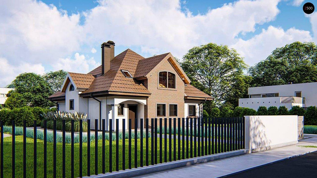 Классический мансардный дом с балконами. 5