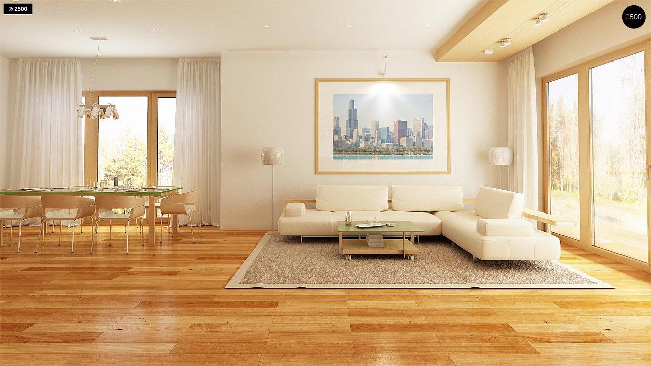 Комфортный элегантный дом с тремя спальнями и выступающим фронтальным гаражом. 5