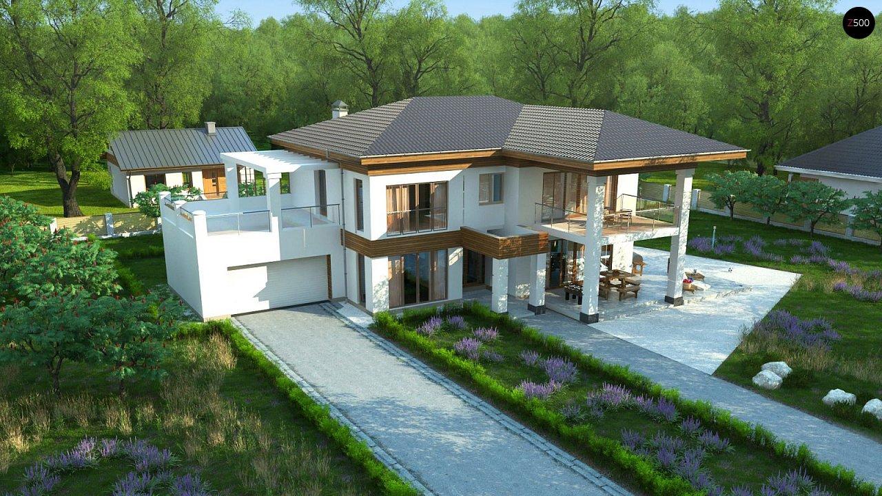 Проект стильного и просторного дома с элементами классической архитектуры. - фото 4