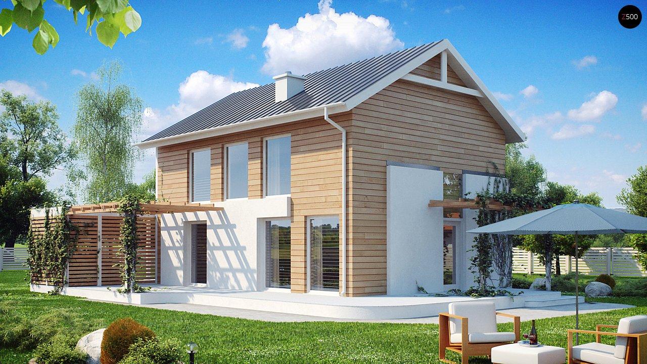 Выгодный в строительстве и эксплуатации двухэтажный дом простой формы. - фото 1