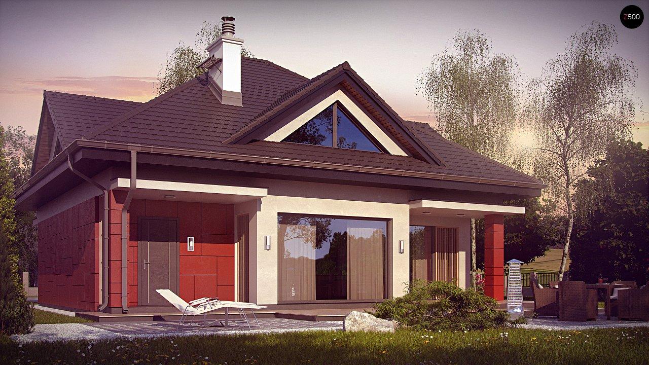 Практичный дом со встроенными гаражом, с большой площадью остекления в гостиной. - фото 3