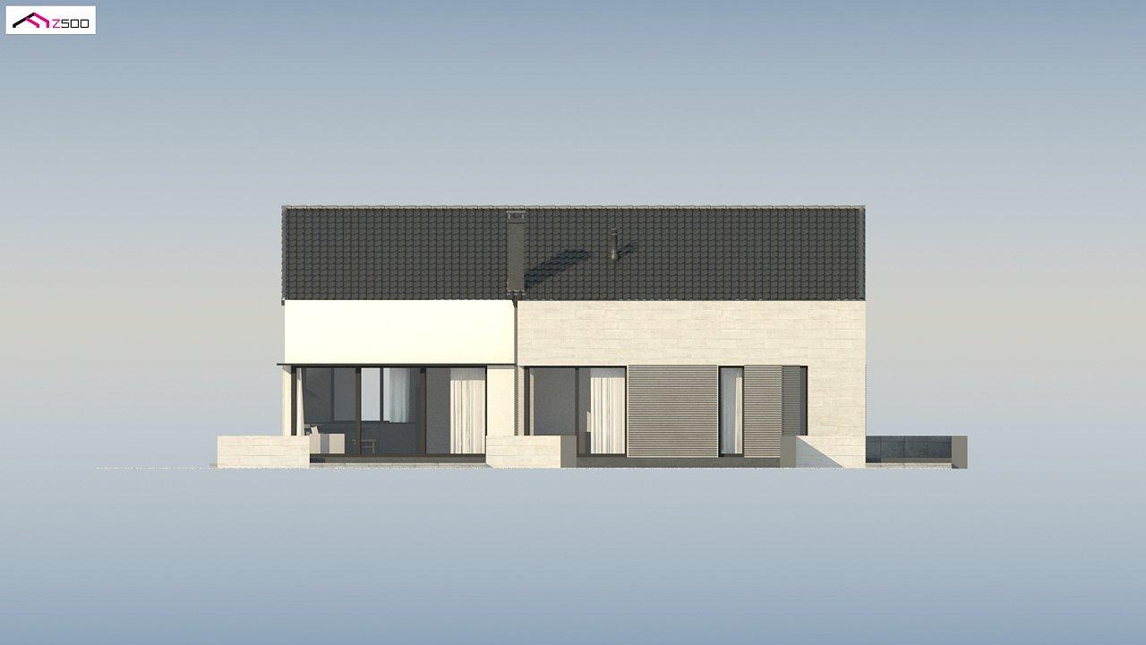 Проект одноэтажного дома Z390 с гаражом на 1 машину и красивым белым фасадом 20