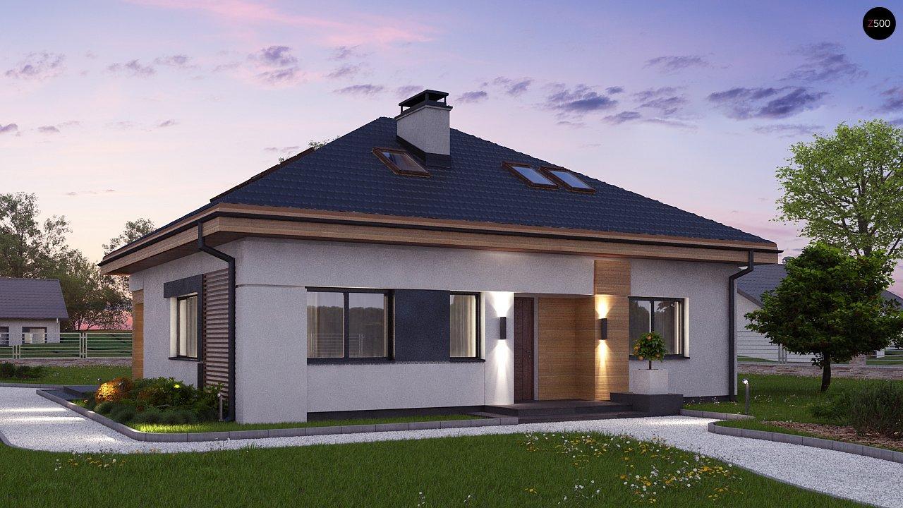 Версия проекта Z273 с жилой мансардой, с увеличенной высотой аттиковой стены. - фото 3