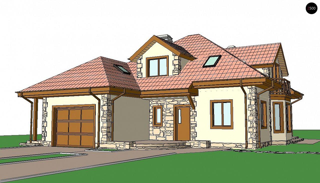Просторный и уютный дом с мансардным этажом, подвариант проекта Z58. 3