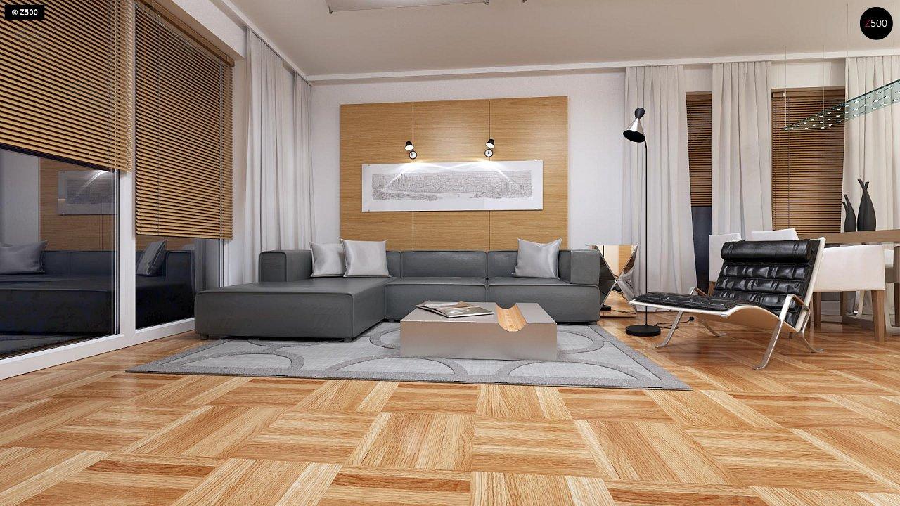 Компактный одноэтажный дом простой формы с возможностью обустройства чердачного помещения. 4