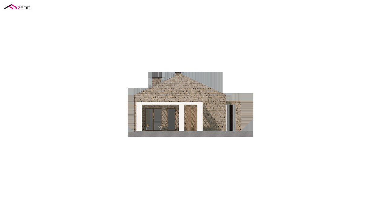 Проект для узкого участка без гаража с тремя спальнями 6