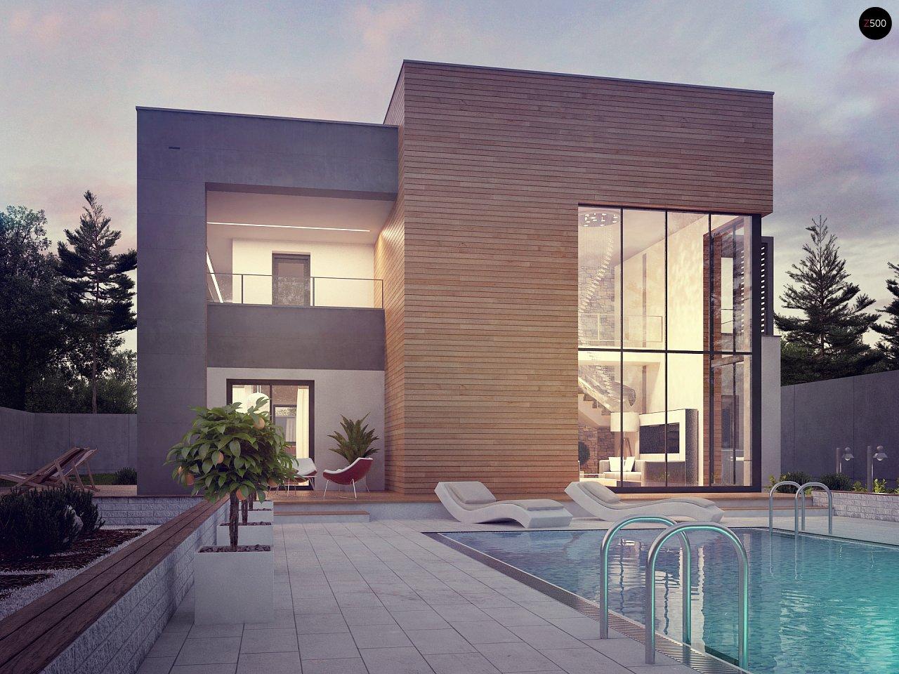 Современный двухэтажный дом с большой площадью остекления. - фото 10
