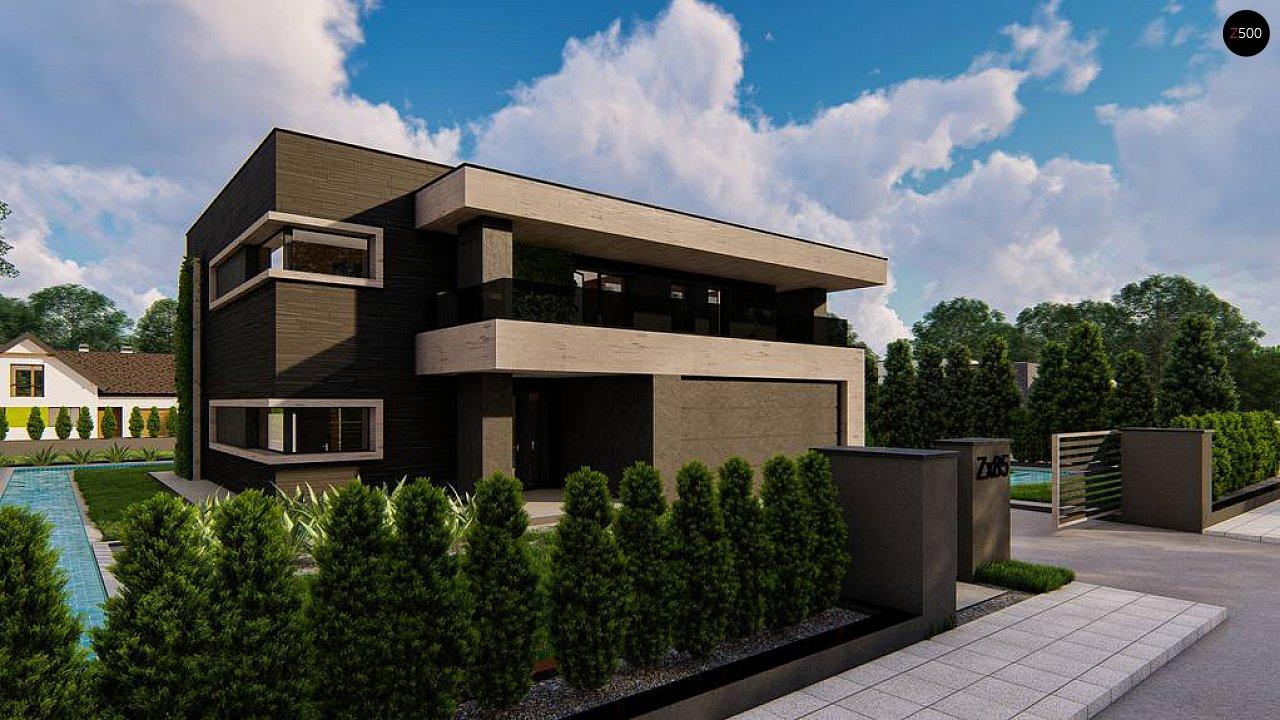 Современный двухэтажный дом с плоской кровлей 3