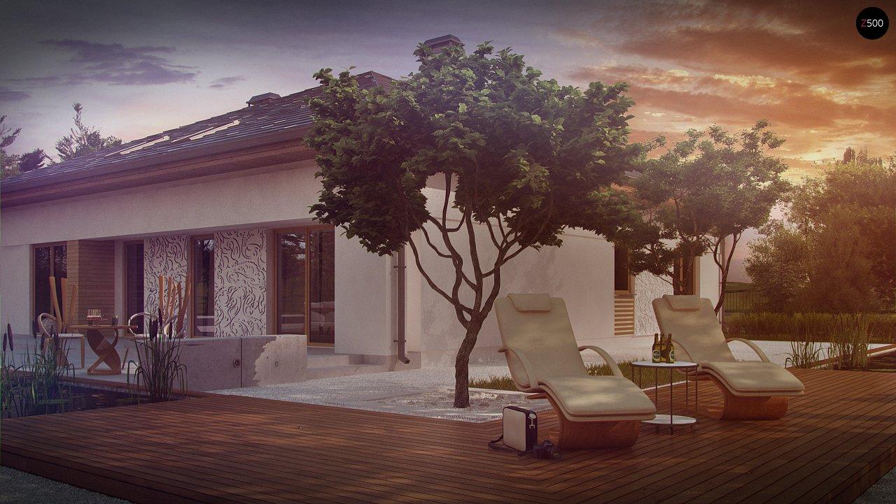 Проект просторного дома с многоскатной крышей. 5