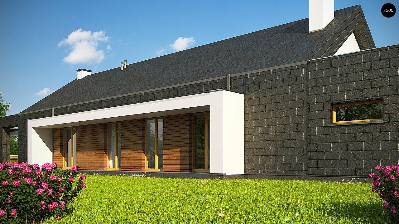 Современный дом с двускатной крышей на узком участке - фото 7