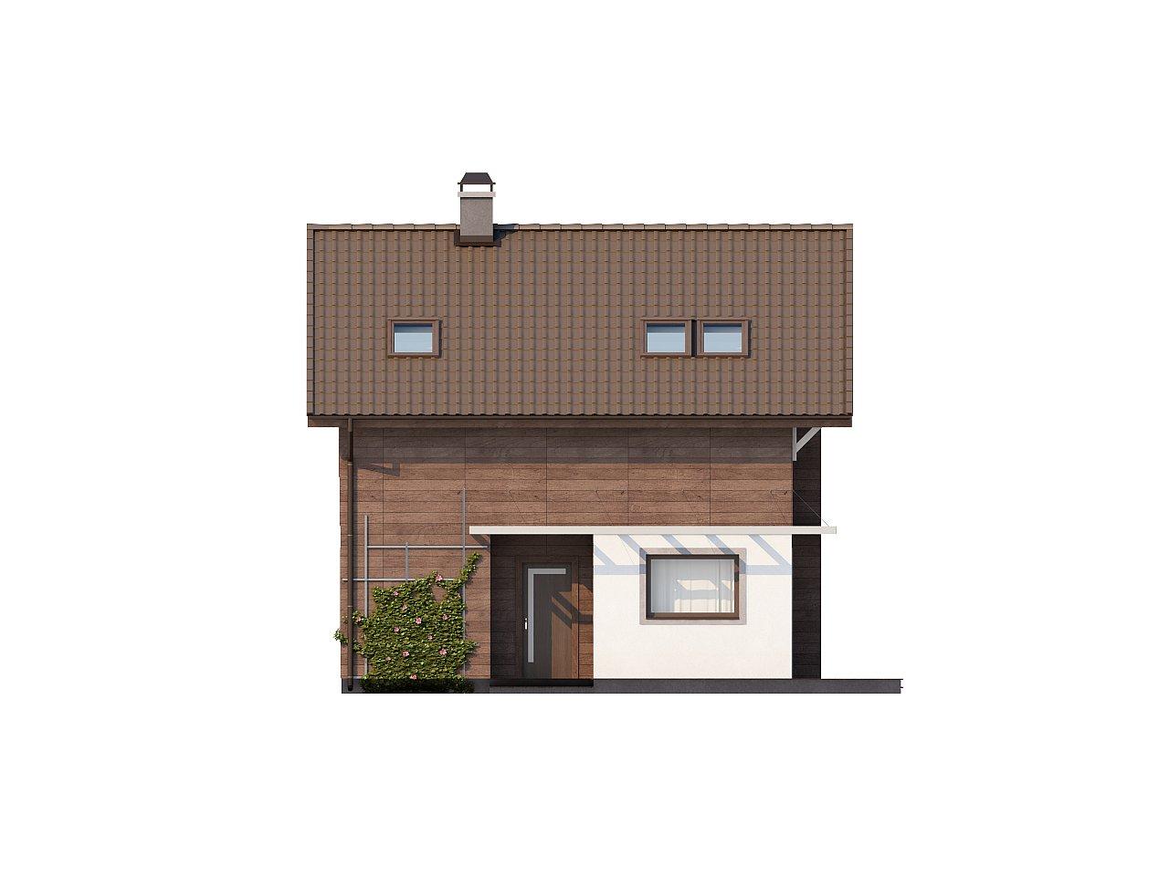 Проект двухэтажного дома с большой площадью остекления. 4