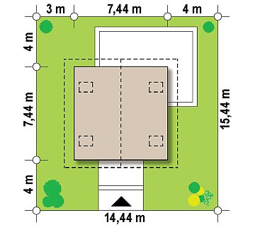 Компактный, аккуратный и стильный дом с двумя спальнями. план помещений 1