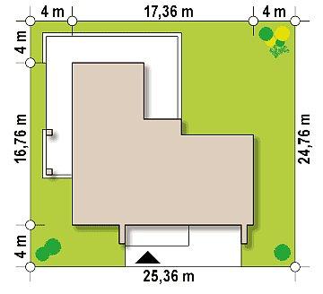 Современный двухэтажный дом с просторной террасой и гаражом на две машины. план помещений 1