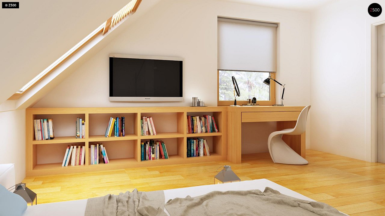 Практичный дом для небольшого участка, простой в строительстве, дешевый в эксплуатации. 12