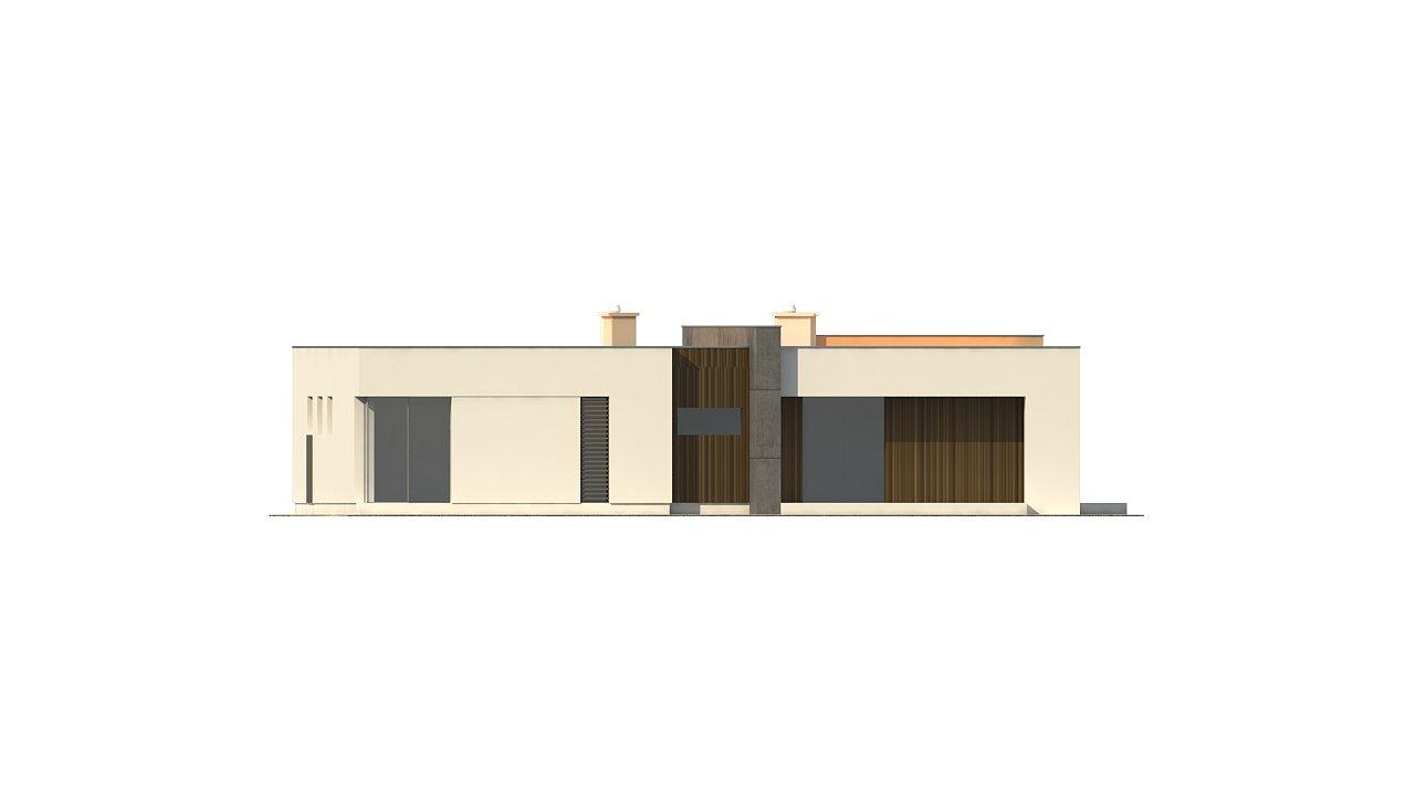 Подвариант одноэтажного дома Zx49 с гаражом для двух машин. 25