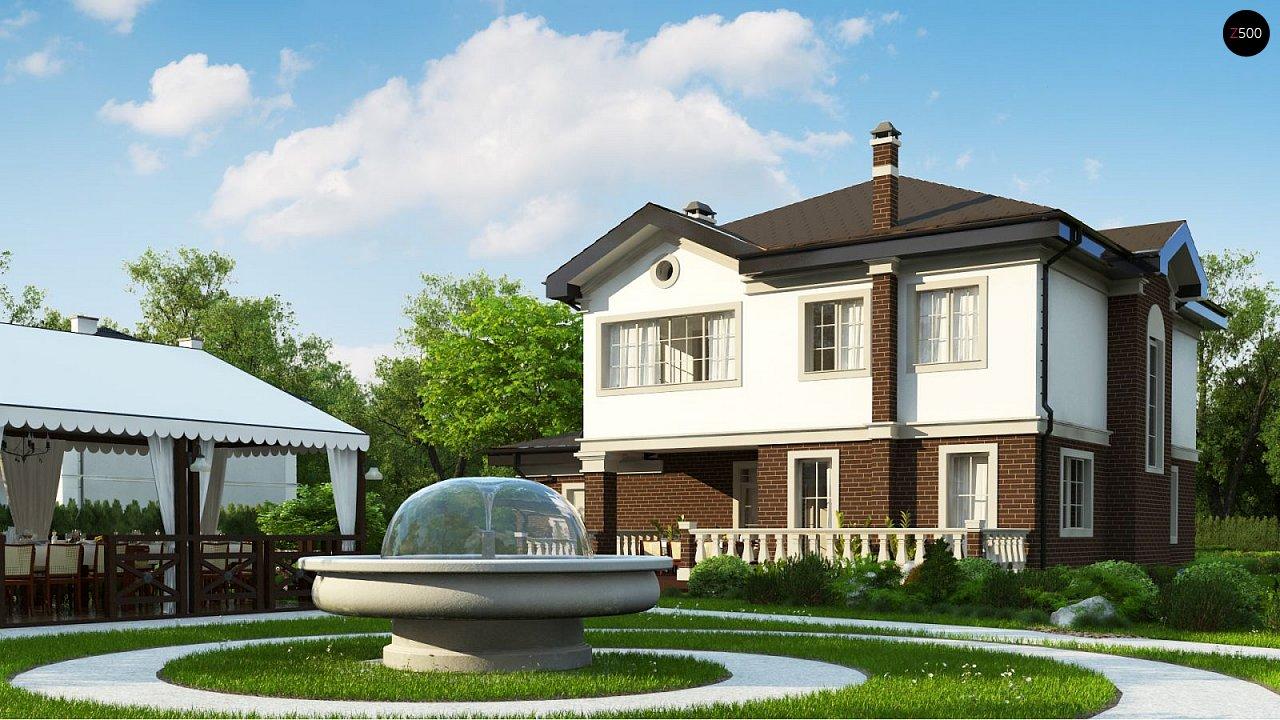 Просторный проект двухэтажного дома с удобной планировкой. - фото 3