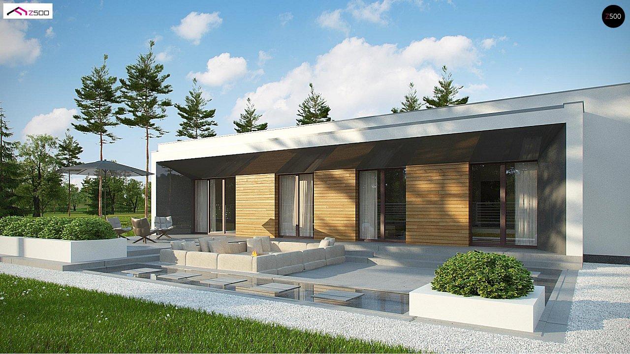 Современный плоскокровельный дом с компактной и удобной планировкой 3