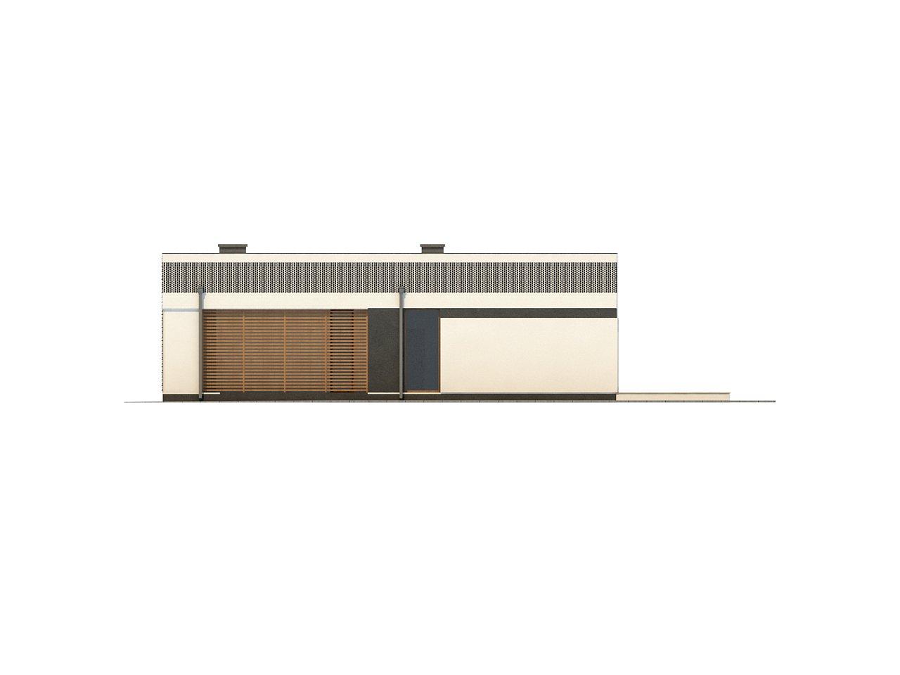 Проект дома в современном стиле с закрытой террасой - фото 16