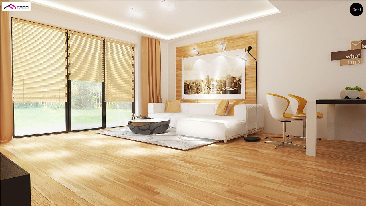 Проект выгодного одноэтажного дома с возможностью адаптации чердачного помещения. 3